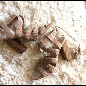 Ledina Sandal Nude Suede. Comfy and gorgeous!